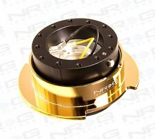NRG Universal GEN 2.5 QUICK RELEASE KIT With BLACK BODY & Chrome Gold RING