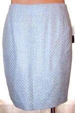New Grace Elements size 10 lined blue textured woven pencil skirt