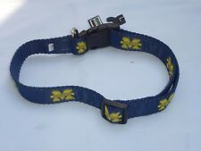 """MICHIGAN WOLVERINES Adjustable DOG/PET COLLAR size Large  1""""  by MoonShine  NWT"""