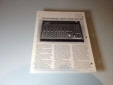 Vintage Oberheim DX Digital Drum Machine Brochure (1980's)
