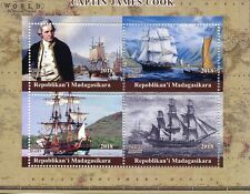 Madagascar 2018 MNH Captain James Cook Endeavour 4v M/S Boats Ships Stamps