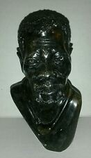 VINTAGE Bronze African American Statue Head Bust Collectable