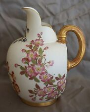 """Royal Worcester #1094 Blush Ivory Gilded FLAT BACK PITCHER / EWER / JUG 7 3/4"""""""