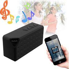 Wireless Bluetooth Mini Portable X3 TF Audio FM Radio Boombox MP3 Speaker Black