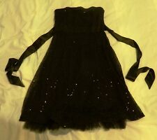 black dress sparkle strapless knee length prom 12 quality