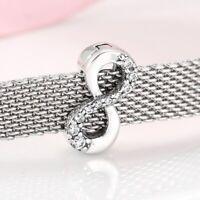 New 925 Silver Reflexions Sparkling Infinity Clip Charm Fits Reflexion bracelet