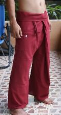 Pantaloni THAI Pescatore Pantaloni Yoga Samurai Kung Fu Tai Chi Boho Maternità Rosso
