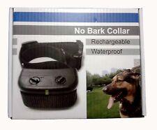 Rechargeable Anti Bark No Barking Tone Shock Training Collar fr Small Medium Dog