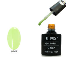 Bluesky nd02 GREEN NUDE-UV LED Gel Immersione OFF Nail Polish 10ml