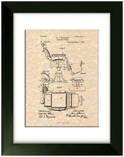 United States Patent Office Print Barber Chair 1898 A.J. Rollert Art