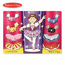 Melissa & Doug Ballerina Dress-up Mix 'n Match Peg Puzzle 10 Pieces  NEW