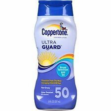 Coppertone Ultra Guard SPF50 Sunscreen Lotion 8 Oz
