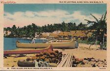 Postcard Pine Island San Blas Indian Village Panama