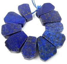 25x16mm Natural Indigo Lapis Lazuli Free form Nugget Ladder Drop Beads (10)