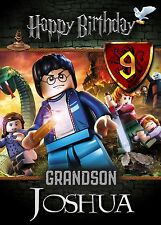 HARRY POTTER Lego Personalised Birthday Card Any Name Age Relative! Son Nephew