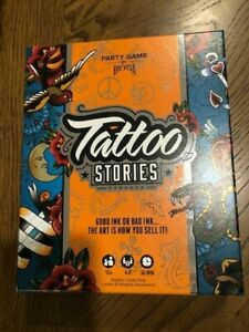 New! Tattoo Stories Party Game by Bicycle - Drawing Board Game (12+) 4-6 Players