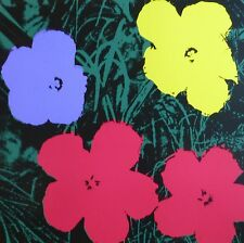ANDY WARHOL POPPY FLOWERS SUNDAY B.MORNING SILK-SCREEN 11.73 WITH COA
