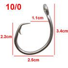 30pcs 39960D Tuna Circle Sea Fishing Hook Big Game Saltwater Fish Hook 8/0-15/0