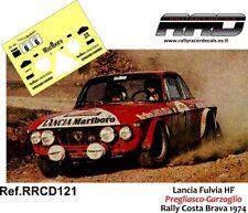 DECAL/CALCA 1/43; Lancia Fulvia HF; Pregliasco-Garzoglio; Rally Costa Brava 1974
