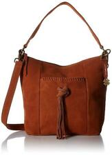 NWT Lucky Brand Carmen Bucket, Tobacco, MSRP: $188, Adjustable/Detachable Strap