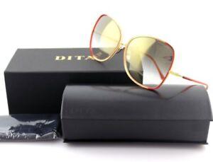 NEW Authentic DITA BLUEBIRD-TWO 2 Red Purple Yellow Gold Grey Sunglasses 21011 C