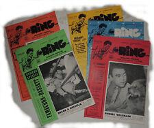 Lot de 5 numéros l'officiel international du RING 1952- 1953 - BOXE