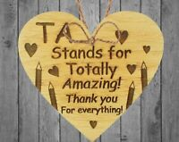 Thank You Gift For Teacher Teaching Assistant Leaving School Gifts Wooden Heart