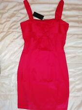 BNWT - Lovely Little Red Party / Evening / Christmas Satin sheen Dress  size 12