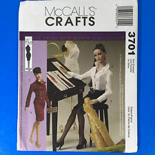 McCalls 3701 Tyler Wentworth Collection Fashion Doll Clothes Pattern 16 In UC FF