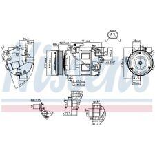 1 Kompressor, Klimaanlage NISSENS 89086 passend für BMW