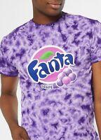 Coca-Cola Men's Fanta Grape Graphic Purple Tie Dye Licensed T-Shirt Size 2XL New
