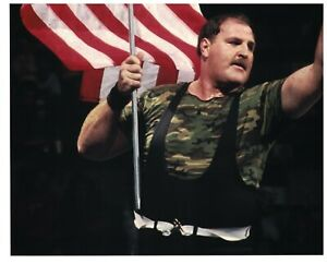 Sgt. Slaughter Unsigned 8x10 Photo American Flag WWF WWE