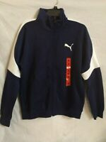 PUMAS MEN'S ZIP UP SWEATER (NAVY BLUE/ WHITE) ~SIZE~ MEDIUM