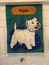 Westie Outdoor Garden Flag Large New! Ships Free!