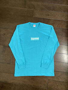 Supreme Box Logo Long Sleeve Authentic Blank Custom Tee Shirts Large