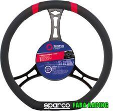 """SPC1114RD Cora - Sparco – Coprivolante """"Classic"""" x volanti ø36cm – Nero/Rosso"""
