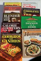 Lot of 9 Vintage Better Homes Cookbooks Home cooking recipes practical