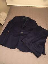 Mens Navy Suit Jacket 38R Trouser 32R Burton Excellent! Skinny Fit