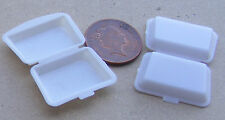 1:12 Scale 2 Small Plastic Take Away Boxes Tumdee Dolls House Food Accessory