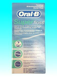Oral-B Superfloss Dental Floss Without Mint 50 Threads 1er - 4er Pack Floss
