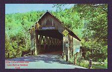 LMH Postcard  COLUMBIA COVERED BRIDGE  148' 1912 Howe Truss Connecticut River NH