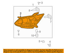 TOYOTA OEM 03-08 Matrix-Headlight Head Light Headlamp 8113002210