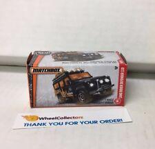 Land Rover Defender 110 * Black *  Matchbox Power Grabs * YB18