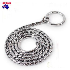2/3/4/5MM 35/50/55/60CM Snake Chain Solid Brass Pet Dog Choker Chain Collar