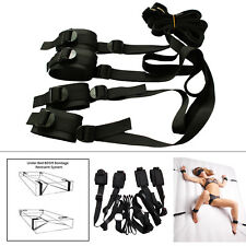 Sex-Under Bed System BDSM Bondage Set Hand Ankle Cuffs Restraints Adult SM Toy
