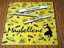 """FATS DOMINO - WHEN THE SAINTS GO MARCHIN' IN / BLUE MONDAY  7"""" VINYL PS"""