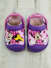 Minnie Mouse Toddler Girl Size c6 / 7 Crocs Clogs Shoes Purple Pink