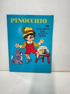 Vintage Pinocchio Coloring and Activity Book Kids Children 1991 Landoll UNUSED