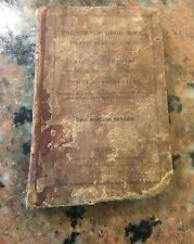 Extremely Rare c.1837 Farmers School Book Pre-Civil War Leather Bound