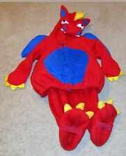 EUC OLD NAVY DRAGON 2 PIECE RED HALLOWEEN COSTUME WINGS, TAIL, PADDED 18 12-24M